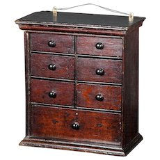 An English set of Antique spice drawers in English Oak.