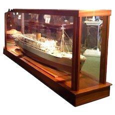 An Original Shipbuilders Model of the M V Baudouinville