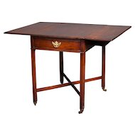 A Good English Antique 18th century Mahogany Drop Leaf Pembroke Table