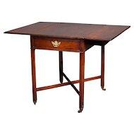 A Good English Antique 18th century Mahogany Drop Leaf Pembroke Table