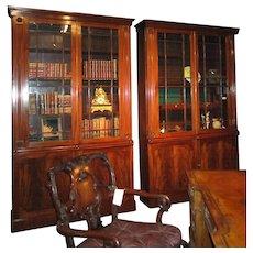 A Pair of English William IV period Mahogany Bookcases, circa 1835.