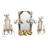 A pair of silvered classical Sconces, American circa 1950's