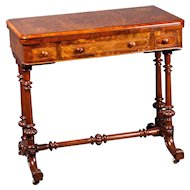 A Victorian Games Table in Burr Walnut