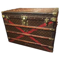 A vintage Louis Vuitton Steamer Trunk from the early 1900's.