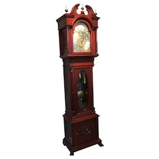 A mahogany Grandfather clock.