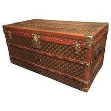 A vintage Louis Vuitton Steamer Trunk.