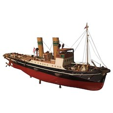 A Scale Model of a Tug Boat.