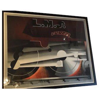 "An Art Deco canvas poster "" LMS The Best Way """