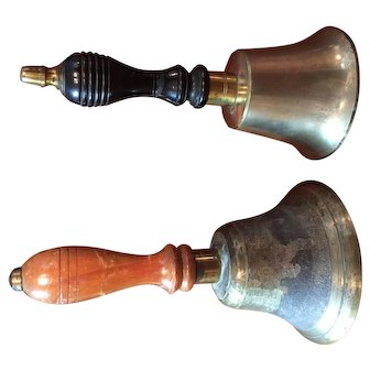 A Pair of English Hand Bells.