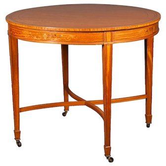 An English Edwardian Satinwood Occasional Table