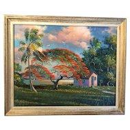 Original Highwaymen oil painting by Samuel Newton