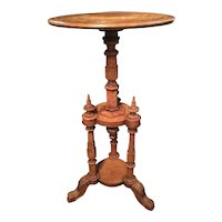 An English Regency Satinwood Wine Table