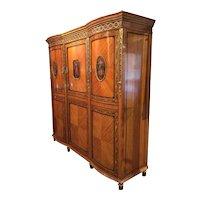 Edwardian Satinwood armoire