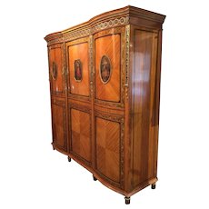 Edwardian Satinwood armoire