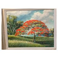 A Florida Highwaymen painting by Sam Newton.