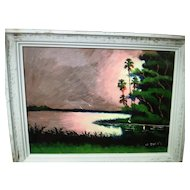 A Florida Highwaymen painting by Willie Daniels.