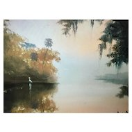 A Florida Highwaymen oil painting by Harold Newton.