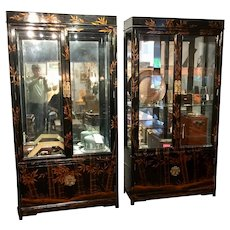 A Pair of Chinoiserie Display Cabinets