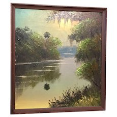 Florida Highwaymen painting by Lemuel Newton