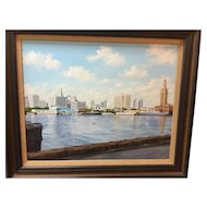 A Painting of Miami in the 1950's