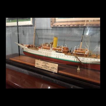 "A Fine Quality Model of a Single Screw Steamer ss "" St. Sunniva ll """