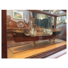A model ship built in England.