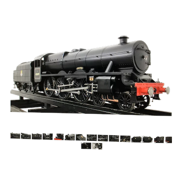 An English live steam locomotive