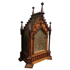 An English Gothic Bracket clock made by Berraud and Lunds of London
