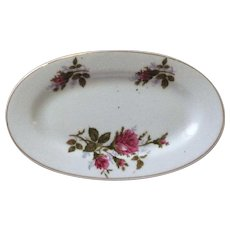 1950's Moss Rose Child's China Oval Platter