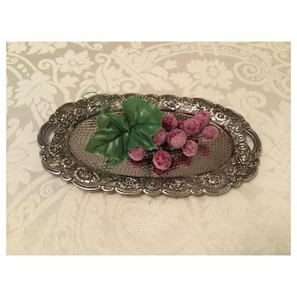 Beautiful Small Silver Tray Perfect for Doll Display