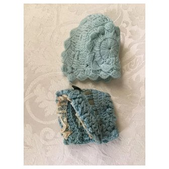 Blue Bonnets for Baby Dolls