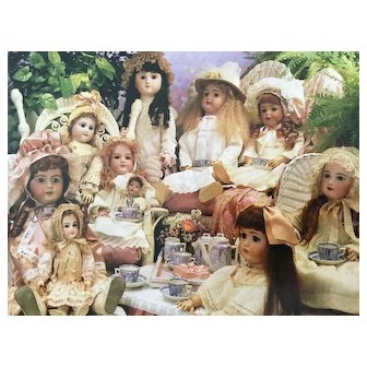 Beautiful Vintage Puzzle of a Doll Tea Party Setting