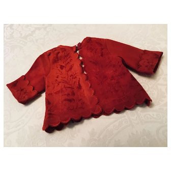 Lovely Wine Red Early Doll Jacket