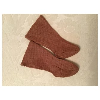 Early Brown Doll Stockings for a Medium Size Doll