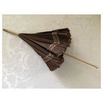 Silk Parasol or Umbrella for French Fashion or Other Doll