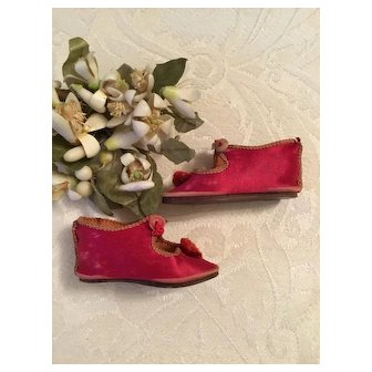 Size 4 Early Silk Doll Shoes 2 1/2 Inches