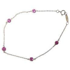 Tiffany & Co. Platinum Pink Sapphire Bracelet