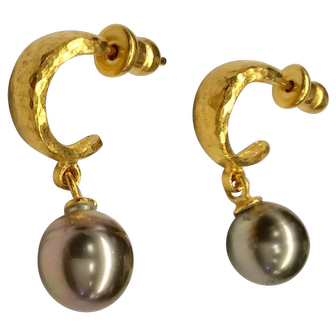 24K Gurhan Cultured Pearl Earrings