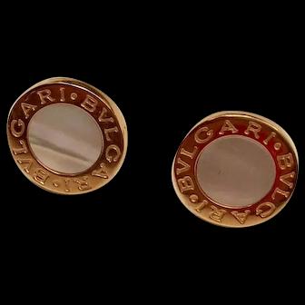 18K Rose Gold Bulgari Earrings