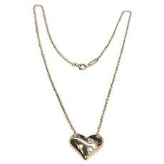 Tiffany & Co. Platinum Etoile Heart Necklace
