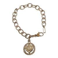 Judith Ripka Heart Charm Bracelet