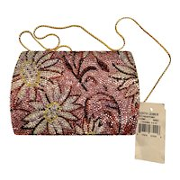 NWT Judith Leiber Daisymae Jeweled Handbag