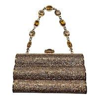 NWT Judith Leiber Ceylon Yellow Jeweled Handbag