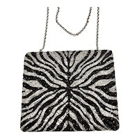 NWT Judith Leiber In The Wild Zebra Handbag