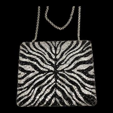 NWT Judith Leiber In The Wild Zebra Handbag