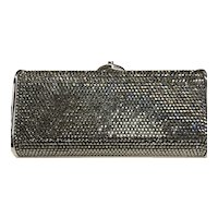 NWT Judith Leiber Silver Diamond Jeweled Evening Bag