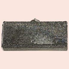 NWT Judith Leiber Silver Diamond Jeweled Evening Bag