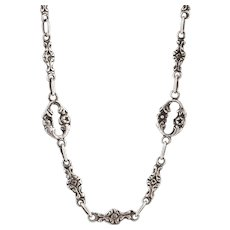 Silver Victorian Fancy Link Chain