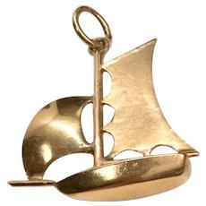14K Sailboat Charm/Pendant