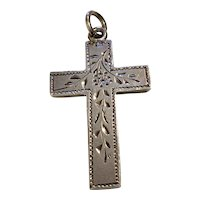 Silver English Chased Cross